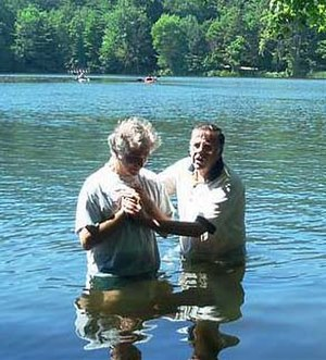 Churches of Christ - Baptism by immersion