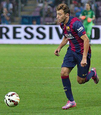 Munir El Haddadi - Munir playing for Barcelona in 2014