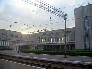 Barabinsk - Barabinsk railway station on the Trans-Siberian Railway