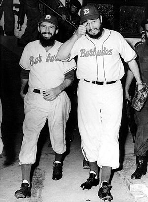 Baseball in Cuba - Fidel Castro with Camilo Cienfuegos