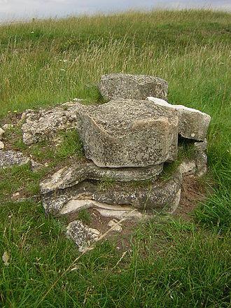 Bardney Abbey - Surviving pillar base
