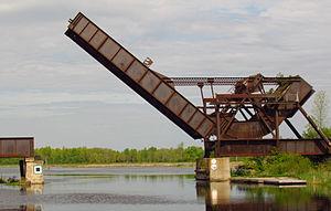 Smiths Falls - Bascule bridge a Canadian National Historic Site