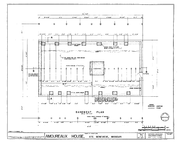 Basement Floor and Structural Plan-- Amoureaux House in Ste Genevieve MO