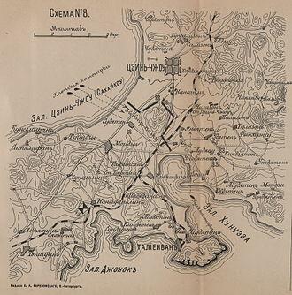 Battle of Nanshan - Russian map of the Battle of Nanshan
