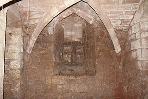 38–39 Bayley Lane - Looking towards the window in the north wall of the undercroft.