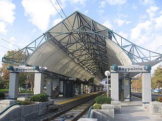 Baypointe station - Baypointe Station platform, 2012