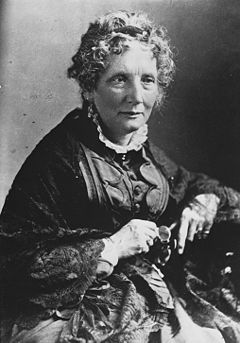Harriet Beecher Stowe, omkring 1870-tal.