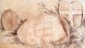 Begerin Boulder and Cross Slab by George Victor Du Noyer.png