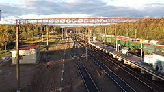 Bekasovo-1 station (view to east from pedestrian overpass).JPG