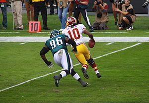 Bennie Logan - Logan pursues Redskins quarterback Robert Griffin III in 2013.