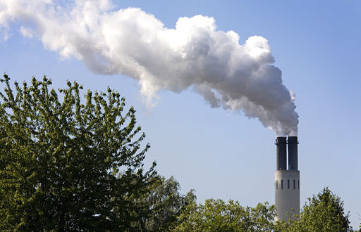 Berlin- An electricity power plant smokestack in - 3982