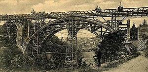 Adolphe Bridge - Charles Bernhoeft: Pont Adolphe under construction (1901)