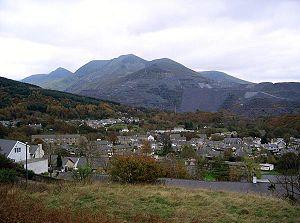 Bethesda, Gwynedd - Image: Bethesda winter