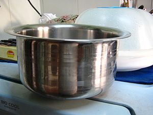English: Utensil used in indian kitchen food p...