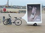 Mobile billboard bike