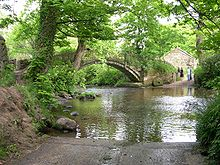 La rivière Beck à hauteur de Bingley, village voisin de Cottingley.