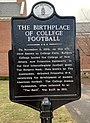 Birthplace of College football plaque.jpg