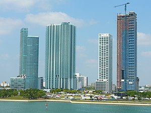 Park West (Miami) - High-rise construction in the mid-2000s has changed the nature of the neighborhood with an increased redevelopment interest