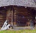 Biserica de lemn din Magura stalp.jpg