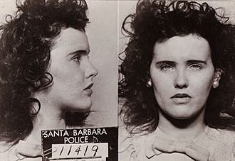 Black Dahlia - Short's arrest photo from 1943 for underage drinking.