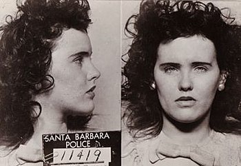 "mugshot taken of Elizabeth Short ""The Bla..."