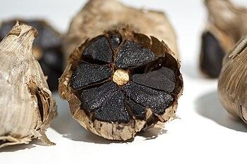 Black garlic is a type of fermented garlic use...