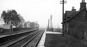 Caledonian Railway lines to Edinburgh - Blackford Station in 1961