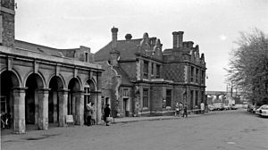 Bletchley railway station - Station front in 1962
