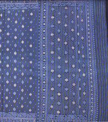 Traditional blue jamdani
