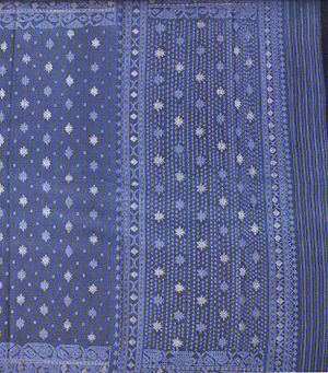 Jamdani - Traditional blue jamdani