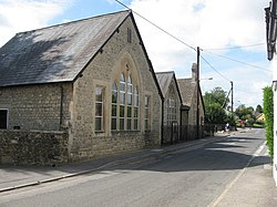 Blunsdon village hall and High Street - geograph.org.uk - 1456249.jpg