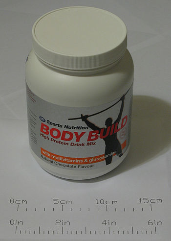 English: This bodybuilding supplement contains...