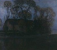 Boerderij in Duivendrecht bij avond, Piet Mondriaan, circa 1916.jpg