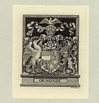 Earl of Ormond (Ireland) - Image: Bookplate Ormonde