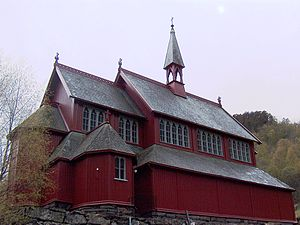 Christian Christie - New Borgund Church (1868)