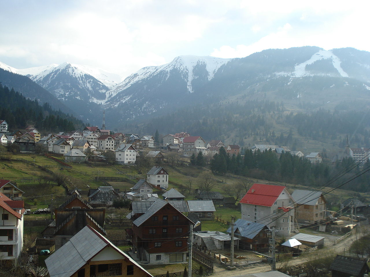 Vedere generală a orașului Borșa