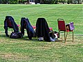 Boundary chairs at Church Times Cricket Cup final 2019.jpg