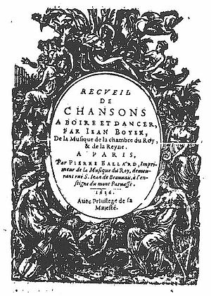 Jean Boyer (composer) - The Chansons of 1636.