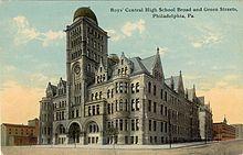 O clădire de liceu din secolul al XIX-lea