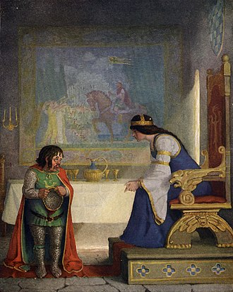 Lynette and Lyonesse - Image: Boys King Arthur N. C. Wyeth p 102
