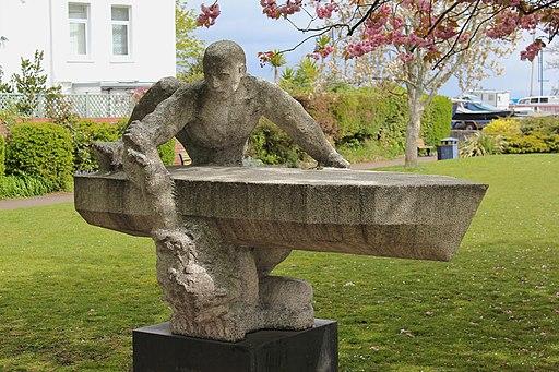 Breathing at Sea Sculpture, Mumbles, Swansea