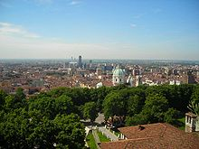 Sight of Brescia from the city castle.