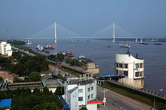 Anqing - Image: Bridge on the Yangtze River in Anqing Anhui China