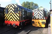 Bridgnorth Shed - D3586 and D9551.JPG