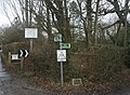 Bridleways signposted off Spode Lane - geograph.org.uk - 1708866.jpg