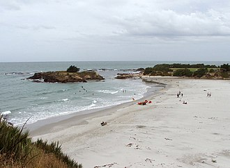 Brighton, New Zealand - Brighton Beach, immediately to the southeast of the town