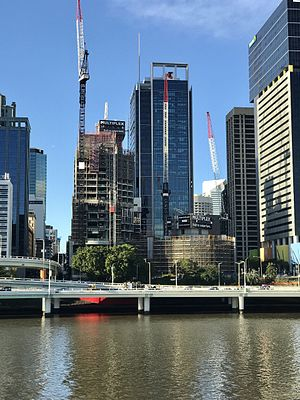 Brisbane Quarter - Development site seen from across the river