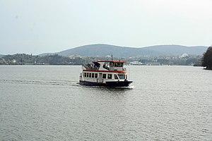 Brno, přehrada, U kotvy, loď Stuttgart (01).jpg