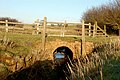 Brook culvert unser a farm track south of Willoughby - geograph.org.uk - 1652392.jpg