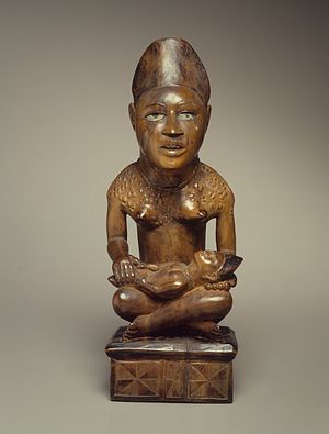 Yombe maternity figures - Phemba from the collection of the Brooklyn Museum